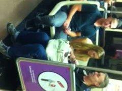Nice White Girl Tits on Subway