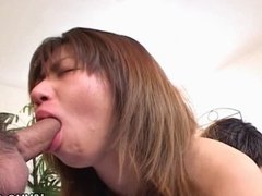 Asian sensation gives a hot blowjob here