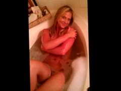 Blonde MILF Squirting Orgasm In The Shower