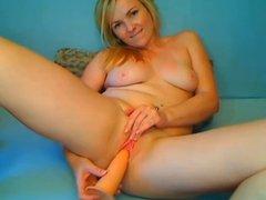 Blonde Girl Masturbates On Cam