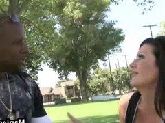 Soccer mom fucked interracially