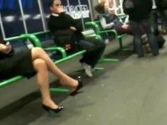 Business Woman Shoe dangling