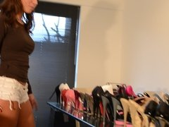 presenting my high heels: dirty shoes inside: teen girl