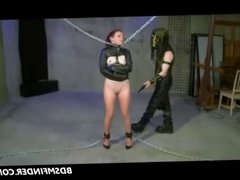 Chained Spanked And Masturbated