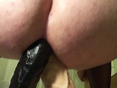 Double anal dildo action