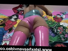 Stacey Lacey Strips in Hot Latex