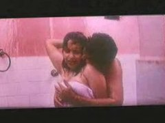 Indian Reshma taking bath