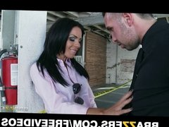 Beautiful brunette cop Kirsten Price gets fucked