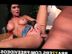 HOT brunette slut seduces her driving instructor for her lic