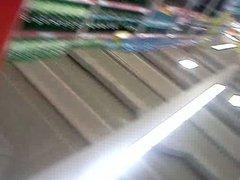 upskirt in supermarket..