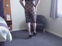 crossdresser lacy dress 1
