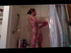 candace in the shower