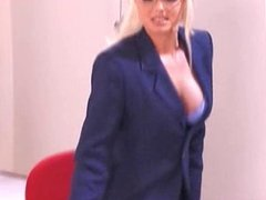 Blond milf secretary