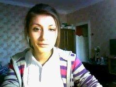 Beautiful russian girl on webcam