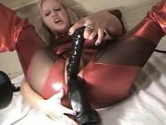 Hot blonde fist and dildos