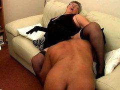 Granny likes black cock