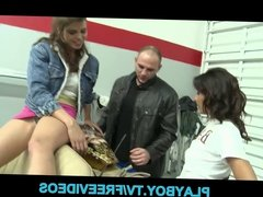 Shy brunette Latina is surprised that she can take all of AJ
