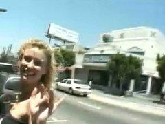 Blonde Slut - Public Facial Cum Walk