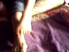 Cum on my GF's Feet Pt. 1