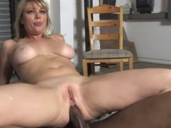 White wife fucked by blacks on garage floor in front of
