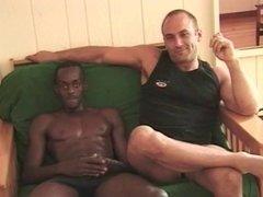Interracial gay couple fuck