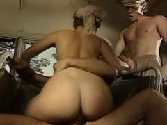 hot classic action with cumshot on face
