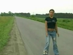 Teen Dildoing in the Fields