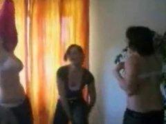 German girls strip to Dirrty