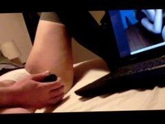 Girl masturbating to porn
