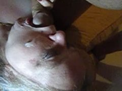 Cock sucking and faceful