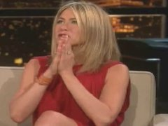 Jennifer Aniston Braless on Chelsea Lately