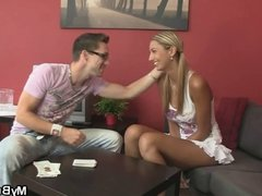 Hot blonde cheats with her BF's bro
