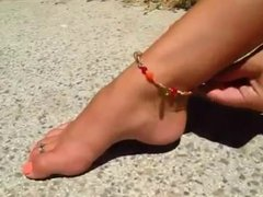 Girl With Beautiful  Feet And Very High Arches