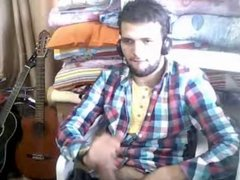young turkish guy wanks till he shoots