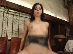 hot french waitress fucked by client