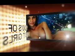 Hot girl stripping on cam show for tips