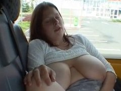 Big Tit Amateur in Car Park with Guy
