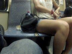 Long legs in train