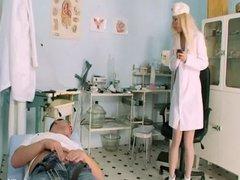 Horny Nurse Gives Head Cock