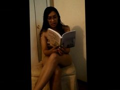 Naked Reading with kitty