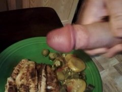 Cum on fish dinner