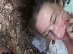 slut french teen Outdoor blowjob woods & cum on face