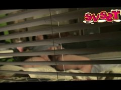 Peeping tom caught ts eve stroking her bbc