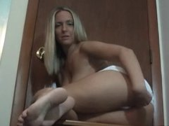 Play with your ass for blonde hottie JOI