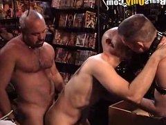 Hairy Daddies In The Sex Shop