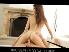 Nubile Films - Cum dripping from her face onto her perky lit