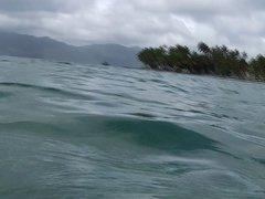 Wichsen im Meer