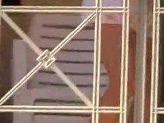 Balcony upskirt, no panties