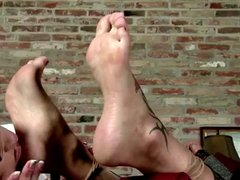 Sexy tied up girl, gets her feet and soles licked!