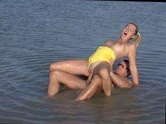 Anal in yellow bikini